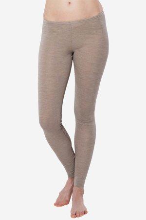 leggings ull/bomull bassy beige melerad modell